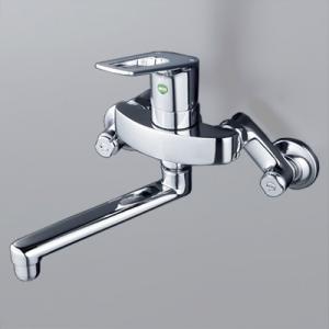 KVK シングルレバー式混合栓 逆止弁付 泡沫吐水 《eレバー水栓シリーズ》 KM5000TEC