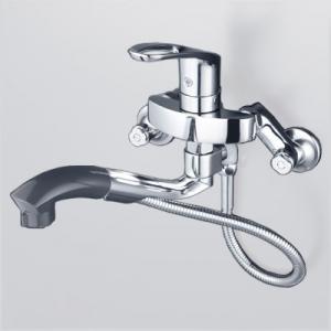 KVK シングルレバー式シャワー付混合栓 オープンホース式 逆止弁付 《KM5000TPシリーズ》 KM5000TP