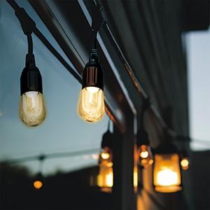 電材堂 【ケース販売特価 6本セット】 ストリングライト LED電球×12灯 電球色 長さ7.2m STRING12LDZN_set