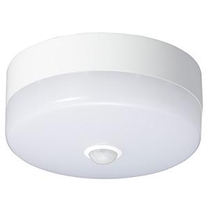 電材堂 【ケース販売特価 10台セット】 LED小型シーリングライト 60W形相当 昼光色 人感・明暗センサー付 CELMS60N01DNZ_set