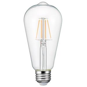 電材堂 【ケース販売特価 10個セット】 LEDフィラメント電球 クリアタイプ エジソン電球40W形相当 電球色 口金E26 LDE4LGCDNZ_set