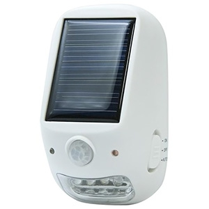 電材堂 【ケース販売特価 10台セット】 屋外用ソーラー式LEDセンサーライト 乾電池式 防沫形 高輝度白色LED×4灯 NL57WHDNZ_set