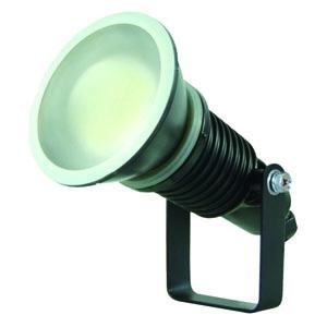 日動工業 常設用LED投光器 水銀灯(レフ球)200W相当 ワイドタイプ 高演色LED電球 ハイスペックエコビック14W 昼白色 口金E26 電線1.5m 切放し 黒色 ATL-E14-BK-5000K
