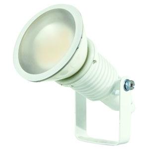 日動工業 常設用LED投光器 水銀灯(レフ球)200W相当 ワイドタイプ 高演色LED電球 ハイスペックエコビック14W 昼白色 口金E26 電線1.5m 切放し 白色 ATL-E14-W-5000K