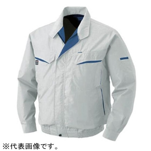 空調服 空調服 混紡 充電バッテリータイプ 5Lサイズ シルバー BK-500N-C06-S7
