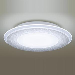 パナソニック LEDシーリングライト 《AIR PANEL LED》 1枚パネルタイプ ~8畳用 天井直付型 調光・調色タイプ 昼光色~電球色 リモコン付 透明・模様入(クリスタル) LGBZ1195
