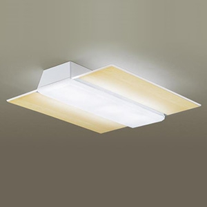 パナソニック LEDシーリングライト 《AIR PANEL LED》 角型タイプ ~14畳用 天井直付型 調光・調色タイプ 昼光色~電球色 リモコン付 木目調 LGBZ4186