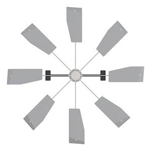 キングジム ハイブリッド・ファンFJR 天井カセット型エアコン用 羽根色シルバー HBF-FJRSW