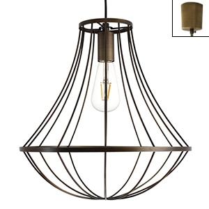 ディクラッセ LEDペンダントライト 《LED Gemma》 白熱電球60W相当 LEDフィラメント電球 E26口金 アンティークブラウン LP3089BR