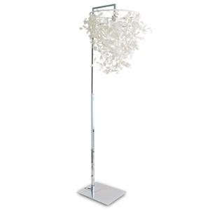 【受注生産品】 ディクラッセ フロアランプ 《Paper-Foresti》 60W相当 電球色 電球型蛍光灯 E26口金 フットスイッチ付 LF4471WH