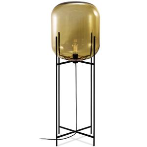 ディクラッセ フロアランプ 《ODA L》 60W 白熱レトロ球 白熱普通電球30W相当 E26口金 フットスイッチ付 アンバー LF4474AM