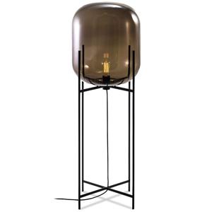 ディクラッセ フロアランプ 《ODA L》 60W 白熱レトロ球 白熱普通電球30W相当 E26口金 フットスイッチ付 スモーキーグレー LF4474GY