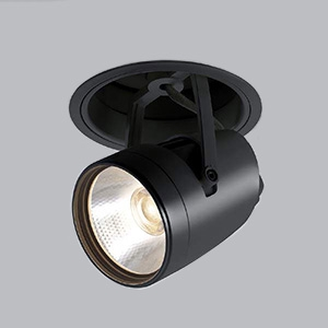 コイズミ照明 LEDダウンスポットライト 明るさ切替タイプ 電球色 埋込穴φ125mm 照度角15° 電源別売 ブラック XD91194L