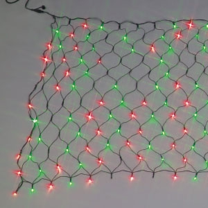ジェフコム LEDクロスネット ランダム点滅タイプ 2色タイプ 赤・緑 SJ-NA33-RG