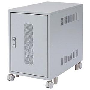 サンワサプライ 省スペース19インチマウントボックス 4U 鍵付き平面ハンドル CP-028K