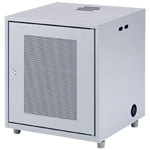 サンワサプライ NAS・HDD・ネットワーク機器収納ボックス 高さ508mm 総耐荷重50kg 鍵付き CP-KBOX2