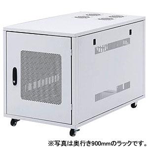サンワサプライ 19インチサーバーラック 12U 小型スリムタイプ 奥行1000mm 鍵付き CP-SV6N