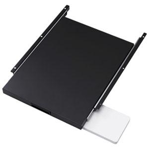 サンワサプライ スライド棚 CP-SVNシリーズ専用 耐荷重15kg マウステーブル付 CP-SVSTBKN