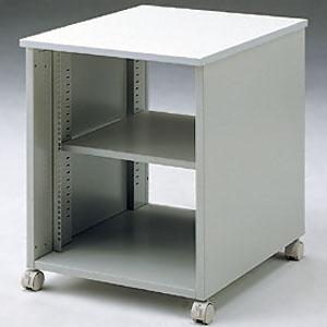 サンワサプライ 19インチマウントボックス デスク横用 高さ700mm 総耐荷重100kg CP-026N