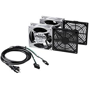 サンワサプライ 放熱ファン 高速タイプ 山洋電気製追加ファン CPシリーズ対応 屋内用 2個セット CP-FANS38-2