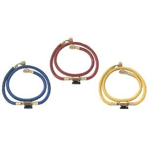 BBKテクノロジーズ R-410A・R-32用 インラインバルブ付チャージングホース 150cm 青・赤・黄3本セット HP5JL