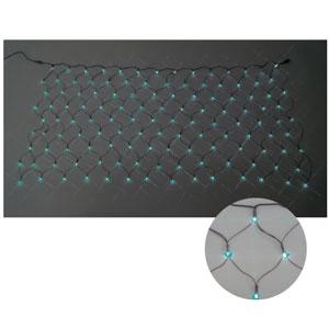 ジェフコム LEDクロスネット 2×1m(緑/緑) SJ-N10-GG