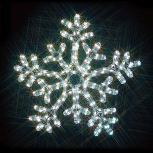 ジェフコム LEDジョイントモチーフ 雪の結晶(白/白) SJ-C103WW-JT