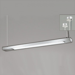 オーデリック LEDキッチンライト FL40W形蛍光灯2灯相当 吊下型 傾斜天井対応(45°まで) 昼白色タイプ OP252109