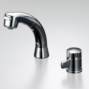 KVK サーモスタット式洗髪シャワー シャワー引出し式 寒冷地用 ストレーナ付逆止弁ユニット付 泡沫吐水 《KF125シリーズ》 KF125ZG2N