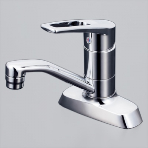 KVK 洗面用シングルレバー式混合栓 吐水口回転式 逆止弁付 泡沫吐水 KM7004T