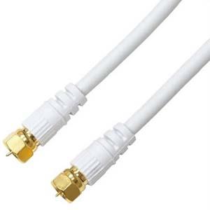 ホーリック アンテナケーブル ネジ式+ネジ式 ホワイト 長さ5.0m HAT50-041SSWH 新作通販 国内正規品