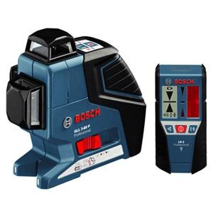 BOSCH レーザー墨出し器 水平4ライン・垂直4ライン・鉛直・地墨 受光器・キャリングケース付 GLL3-80PLR