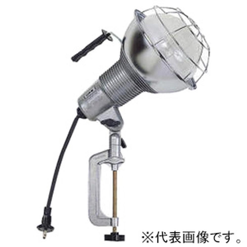 ハタヤ 水銀作業灯 屋外用 300Wバラストレス水銀ランプ 二重絶縁 電線長0.3m バイス付 RGM-300