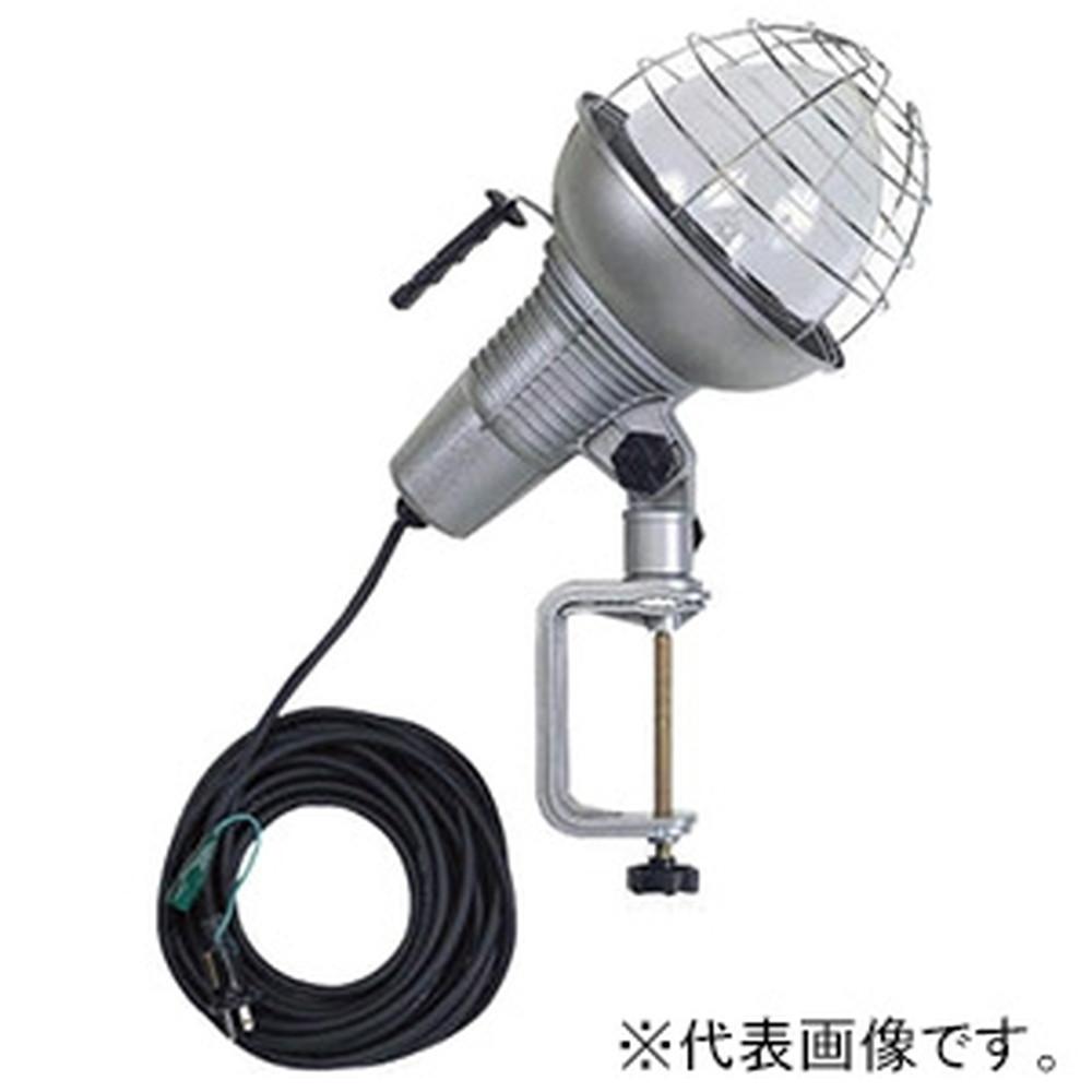 ハタヤ 水銀作業灯 屋外用 750Wバラストレス水銀ランプ 二重絶縁 電線長10m バイス付 RGM-7510
