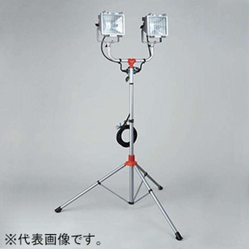 ハタヤ スタンド付ハロゲンライト 屋外用 500W耐振型ハロゲン灯×2灯 接地付 電線長5m PHCX-505KN
