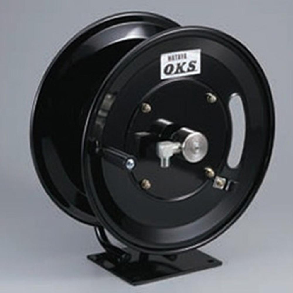 ハタヤ 高圧ホースリール 高圧洗浄用 固定据置きタイプ 手動巻 巻取容量3分ホース30m・4分ホース25m ホース別売 HSP-12MB