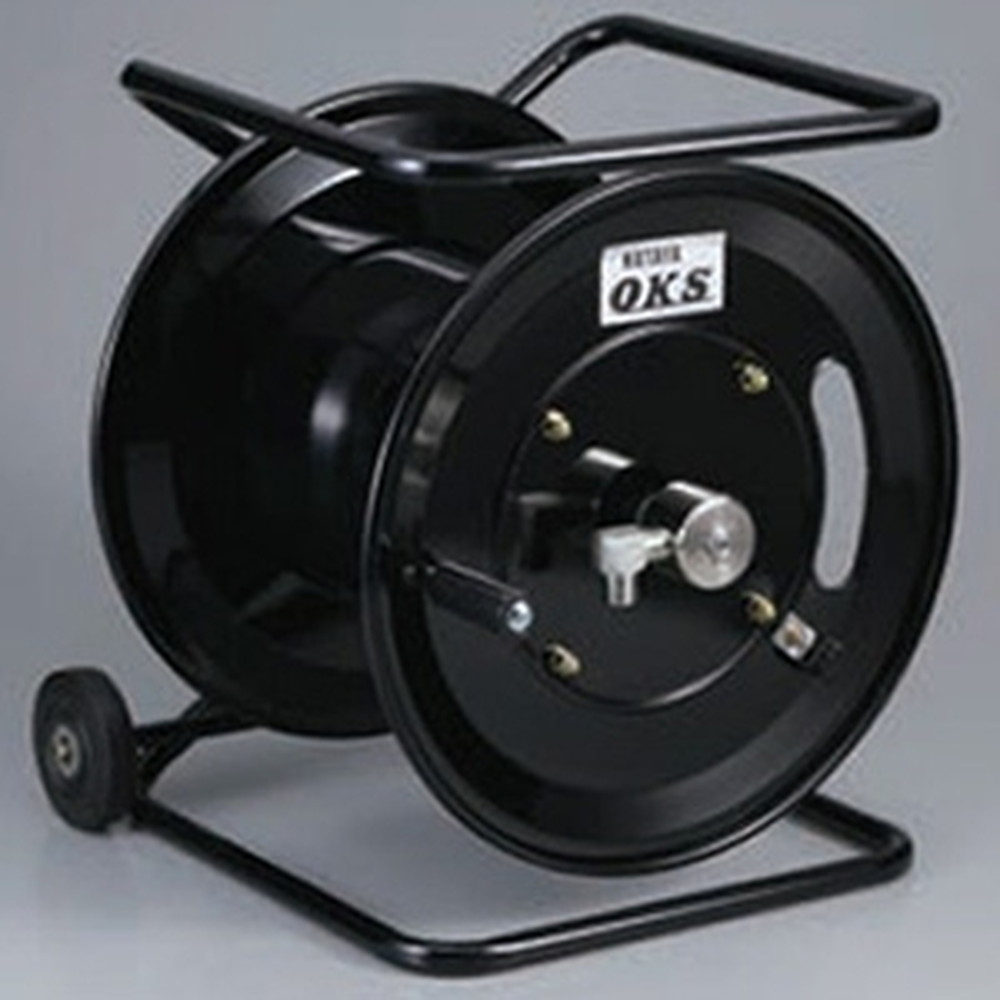 ハタヤ 高圧ホースリール 高圧洗浄用 キャスター付スタンドタイプ 手動巻 巻取容量3分ホース60m・4分ホース50m ホース別売 HSP-12WCS