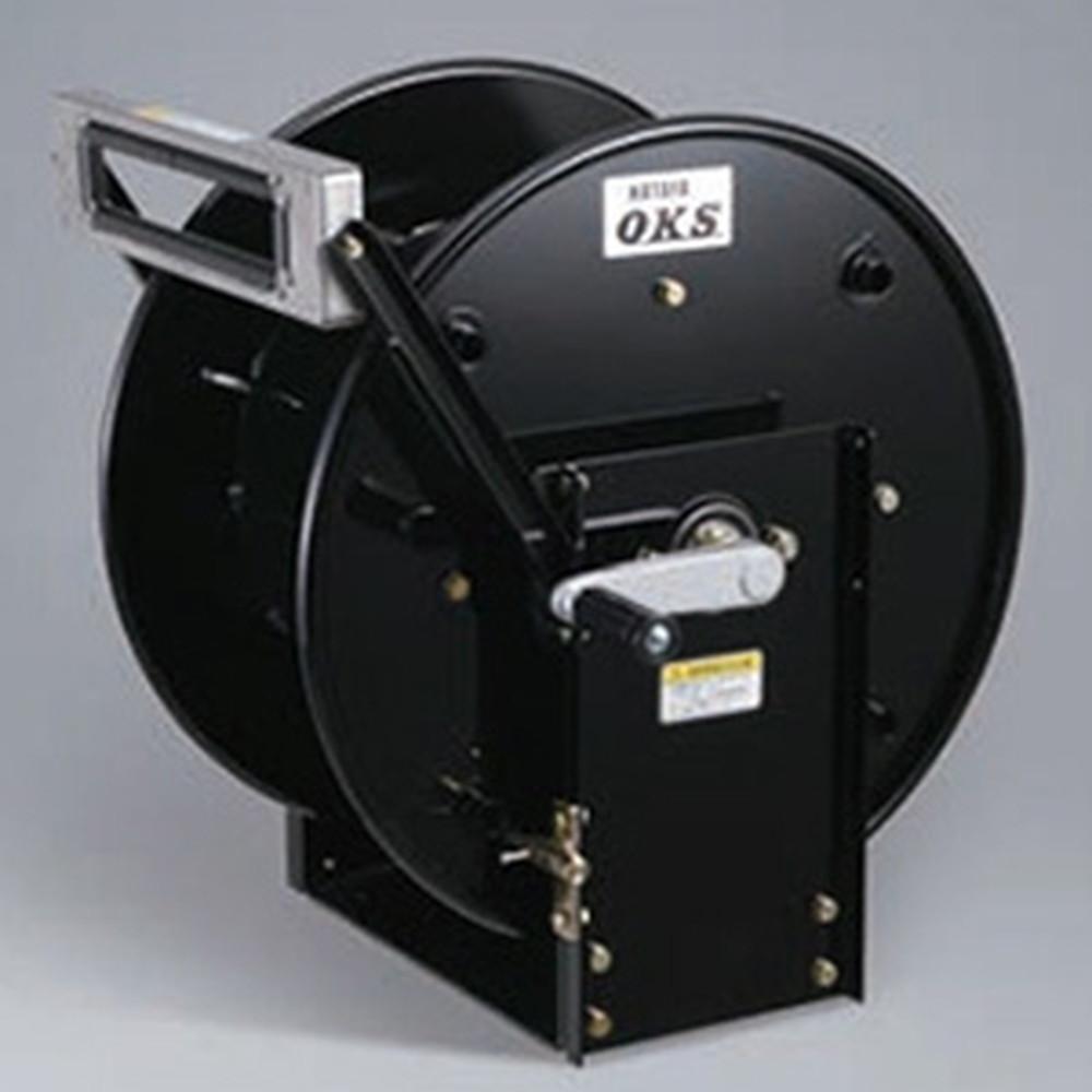 ハタヤ 高圧ホースリール 高圧洗浄用 固定据置きタイプ 手動巻 巻取容量3分ホース60m・4分ホース50m ホース別売 HSP-12SDS