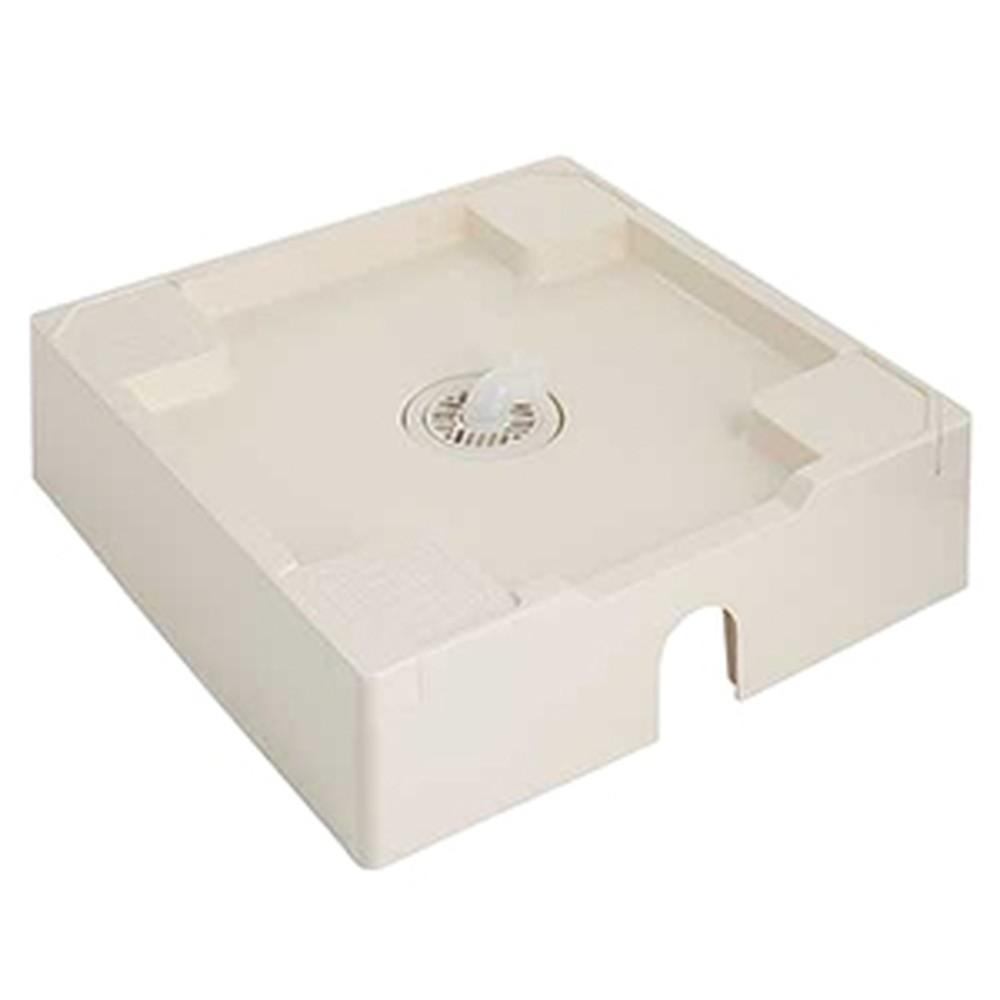 カクダイ 洗濯機用防水パン 床上配管型 W640サイズ 耐荷重4.3kN 専用排水トラップ・ビス・キャップ付 アイボリー 426-423