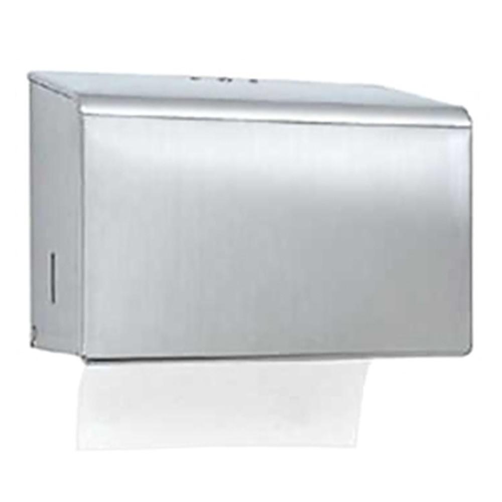 カクダイ ペーパータオルボックス 200枚収納 ビス ステンレス製 高級品 プラグ カギ付 安心と信頼 208-101