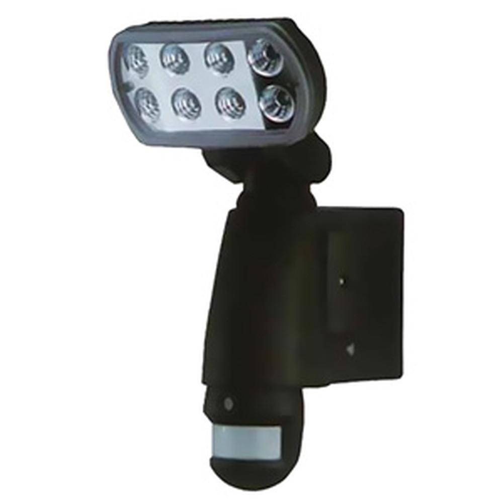 マザーツール SDカードレコーダー搭載センサーライトカメラ AC100V 1W高輝度LED×8基 防滴タイプ 1/4インチカラーCMOS SDカード8GB付 MT-SL01-B