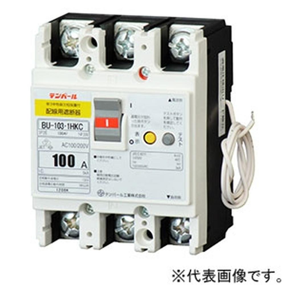 テンパール工業 パールテクトブレーカ 3P2E100AF 60A パールテクト専用 単3中性線欠相保護機能付 BU1030HKC06