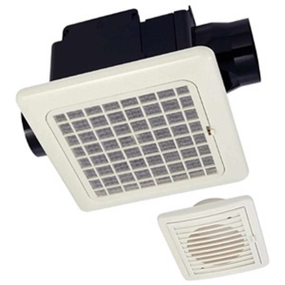 MAX 天井埋込型換気扇 ダクト式 2室用 常時換気用 開口寸法225×225mm ワンタッチ着脱フィルター付 VF-C22KC1-2