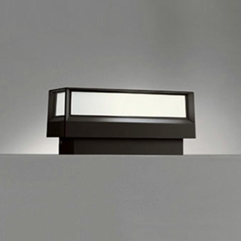 オーデリック LED門柱灯 防雨型 白熱灯40W相当 電球色 明暗センサー付 黒 OG042176LD