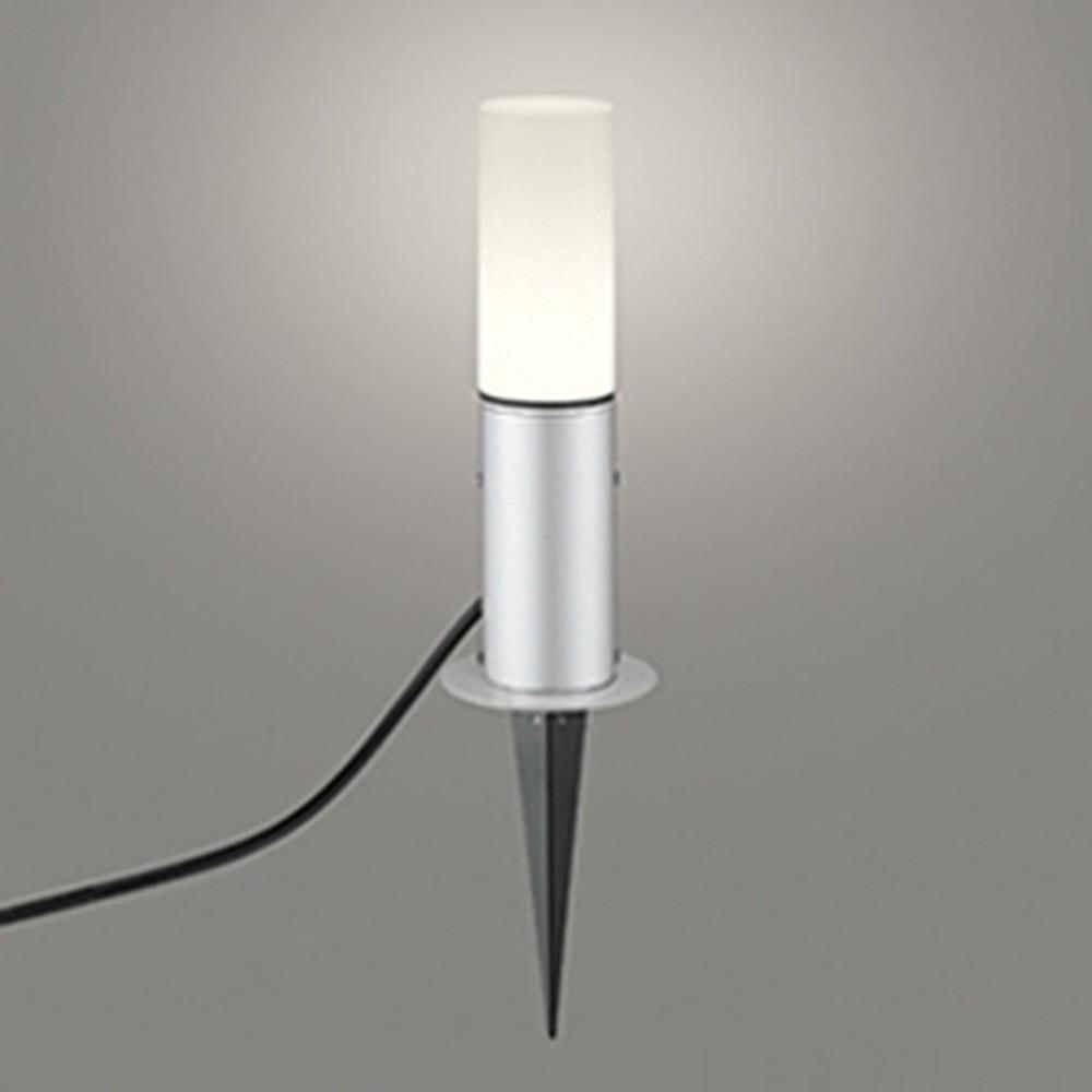 オーデリック LEDガーデンライト 防雨型 白熱灯60W相当 電球色 地上高350mm マットシルバー OG254421LD