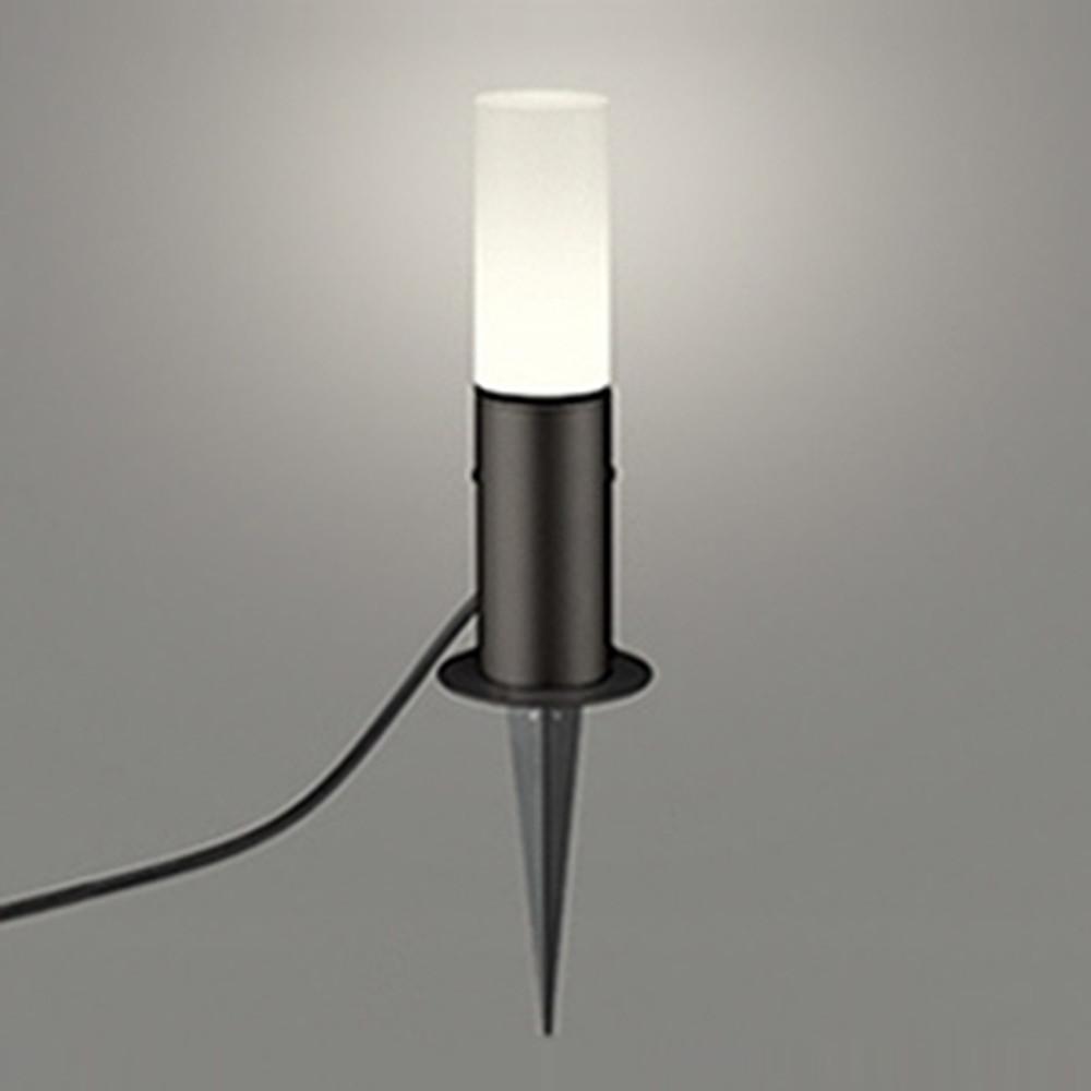 オーデリック LEDガーデンライト 防雨型 白熱灯60W相当 電球色 地上高350mm 黒 OG254420LD