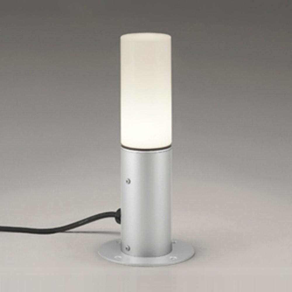 オーデリック LEDガーデンライト 防雨型 置型タイプ 白熱灯60W相当 電球色 マットシルバー OG254423LD