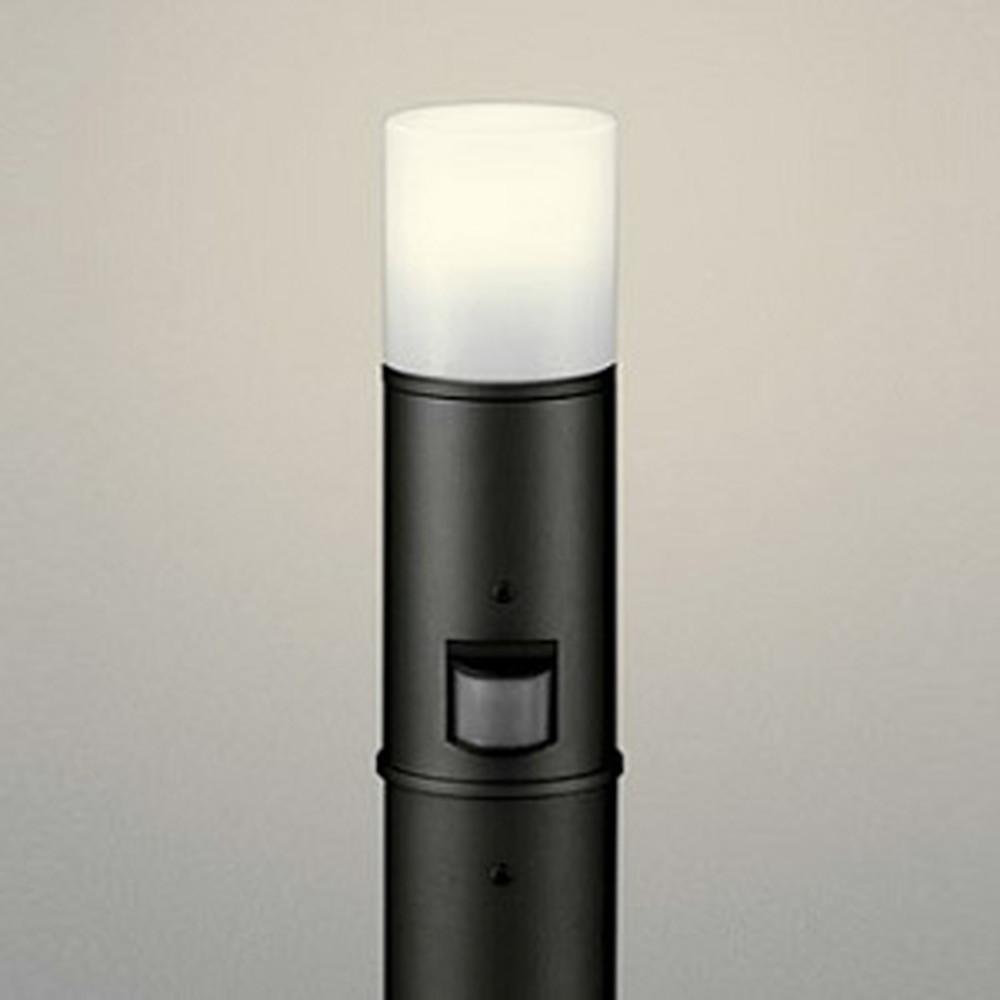 オーデリック LEDガーデンライト 防雨型 白熱灯60W相当 電球色 人感センサー付 地上高600mm 黒 OG254196LC