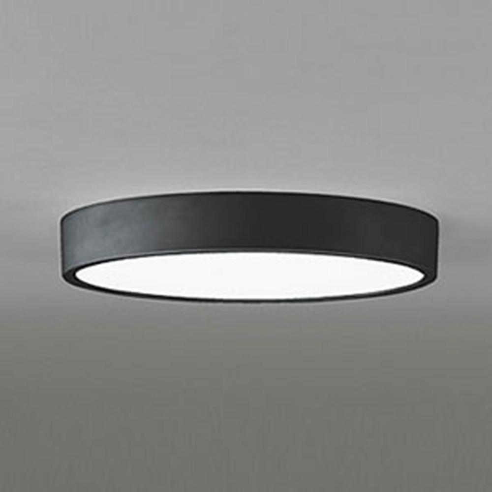 オーデリック LEDシーリングライト FCL30W相当 昼白色 非調光タイプ 人感センサー付 ブラック OL251736