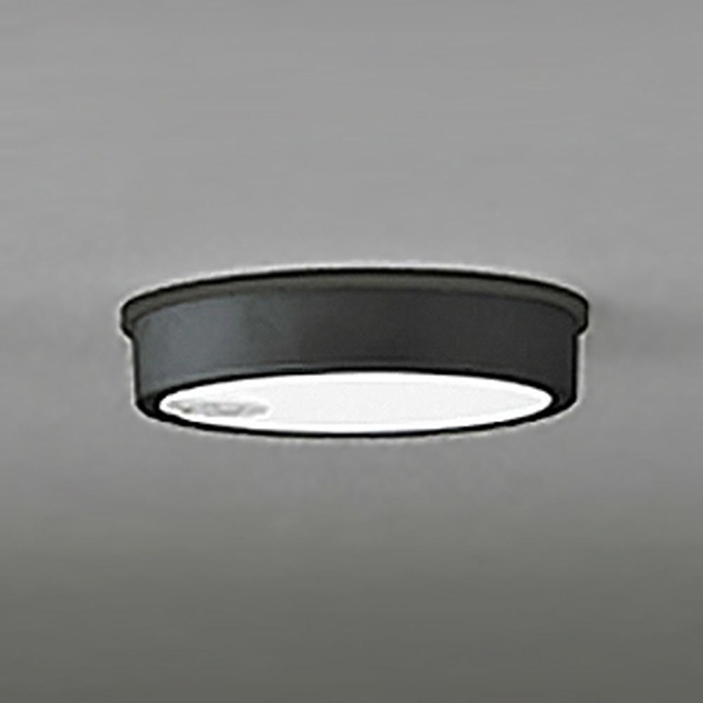 オーデリック LEDシーリングダウンライト 《FLATPLATE》 防雨型 軒下取付専用 白熱灯100W相当 昼白色 人感センサ付 ブラック OG254523